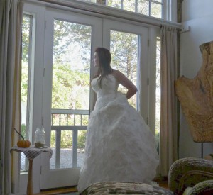 bride in Boat House