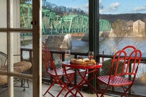 Delaware Suite Porch - overlooking river