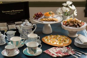 Afternoon tea service at Bridgeton House