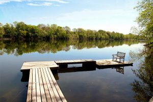 peaceful spot on the river for relaxing getaway in Bucks County
