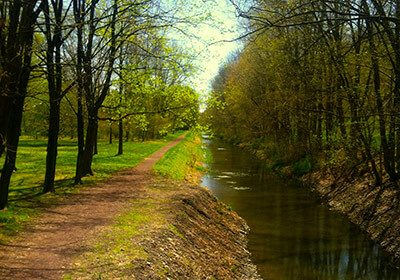 Spring getaway walking on the canal tow path in Upper Black Eddy, PA