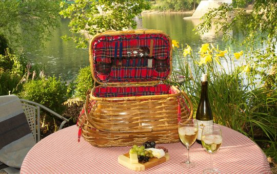 Filet Mignon picnic basket served riverside
