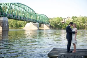 Delaware River Wedding Couple