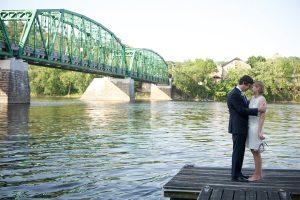 Delaware River Wedding Couple