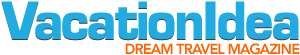 Vacation Idea dream travel magazine logo