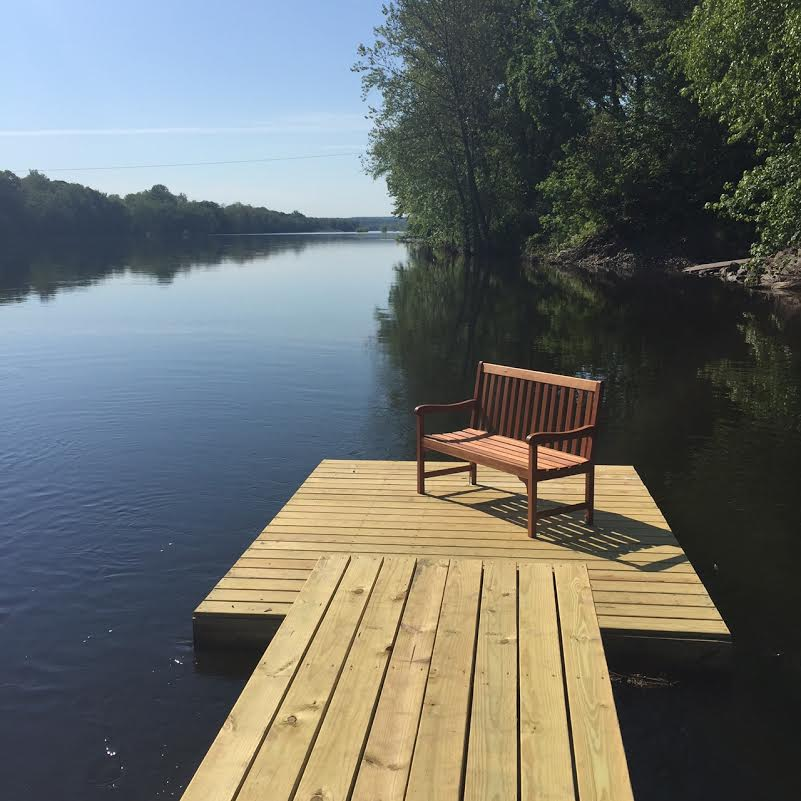 Bench on River Dock