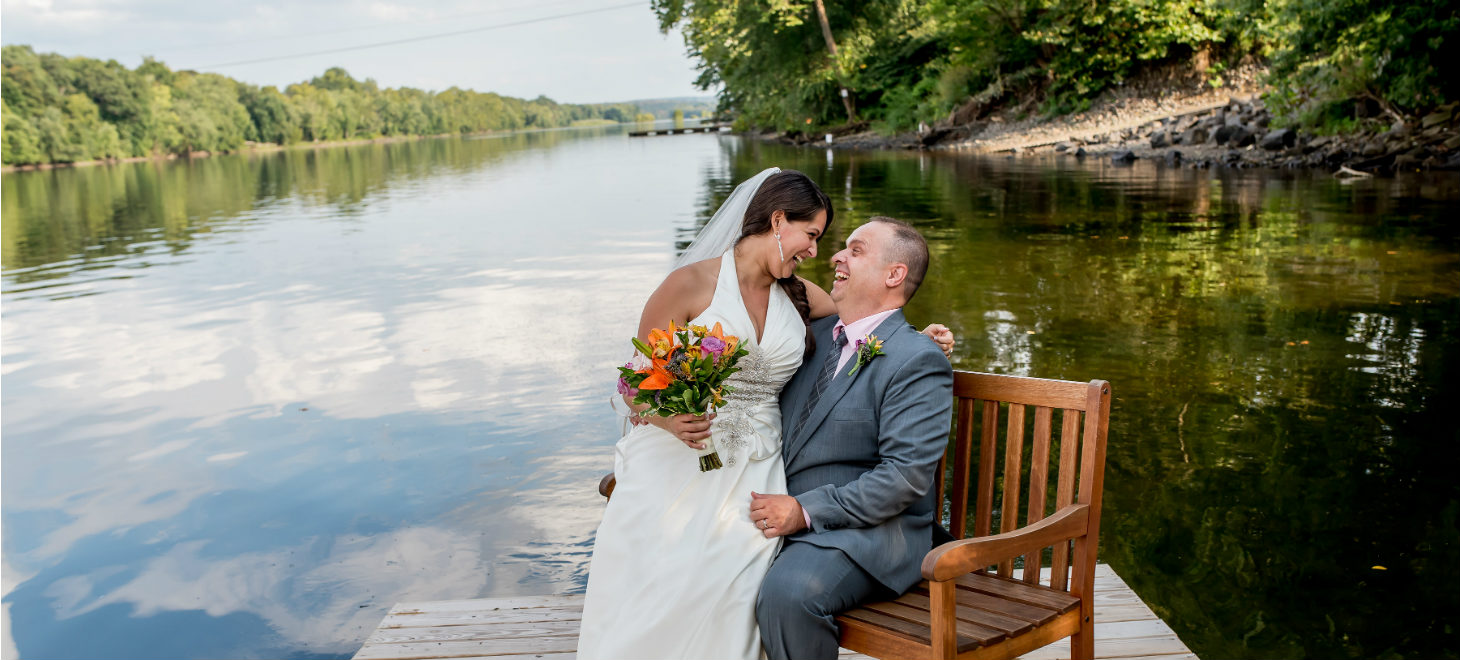 elope in pa - Bride and Groom Kissing