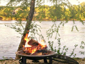 The perfect Bucks County Vacation - A cozy fire by the river at our B&B