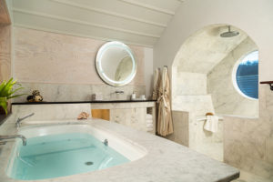 Leap Year Savings Package: Luxurious Marble Shower and Jacuzzi Tub in the Tree House