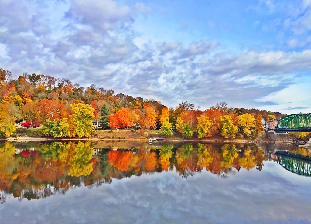 Fall Colors Reflecting in the Delaware River