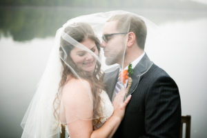 Bride and Groom in Veil