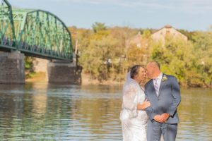 Wedding Couple by River