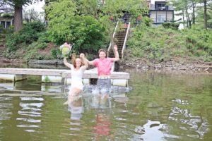 elope couple take the plunge at Bridgeton Hosue