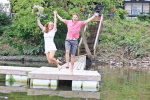Elope Couple Jump